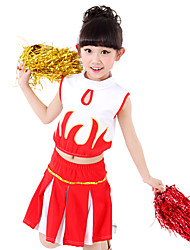 Performance Outfits Children's Performance Spandex Draped / Sequins 2 Pieces Sleeveless Skirt / TopTop length:XS:26cm S:28cm M:30cm