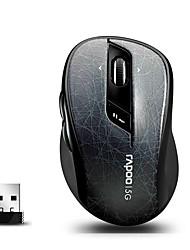 orginal rapoo 7100p 5.8ghz souris optique sans fil avec 4d programmable molette de défilement pour PC / ordinateur portable noir / vert /