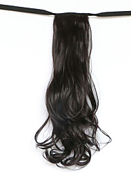 Water Wave Black Synthetic Bandage Type Hair Wig Ponytail(Color 99J)