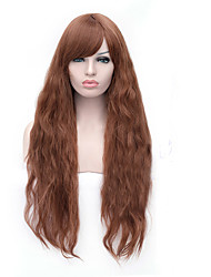 New Arrival Long Size Brown Wavy Hair Synthetic Wigs