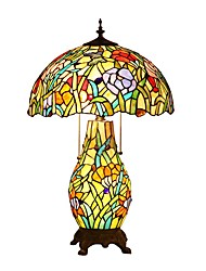 Tiffany Butterfly Designed Desk Lamps with 3 Light