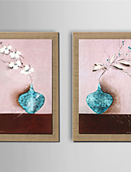 Oil Painting Modern Abstract Set of 2 Hand Painted Natura Linen With Stretched Frame