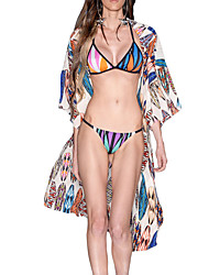 Women's Halter Cover-Up,Floral Chiffon Multi-color