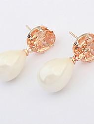 Women's Jewelry Gift Gold Plated Zircon Crystal Earrings Wedding Jewelry