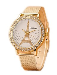 Women's Fashion Watch Simulated Diamond Watch Casual Watch Imitation Diamond Quartz Alloy Band Silver Gold