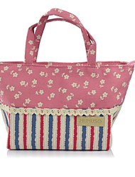 Women-Casual-Canvas-Tote-Green / Red