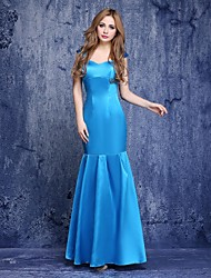 Prom / Formal Evening Dress Trumpet / Mermaid Spaghetti Straps Floor-length Charmeuse with