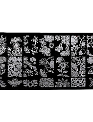 BlueZOO Rectangle Forest Garden Nail Art Stamping (BC-20)
