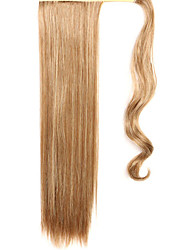Yellow Straight Mixing Straight Hair Wig Ponytails 12/613