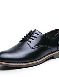 British Men's Fashion Wedding Shoes Casual Pointed toe Leather Shoes Oxfords Business Shoes EU 38-43
