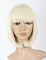 noir blond et brun 3 couleurs sont avaible bobo femmes droites perruque synthétique complète