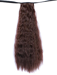 Wig Maroon 50CM Water Synthetic High Temperature Wire Hot COrn Horsetail Color 33