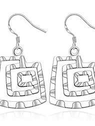 Women's S925 Silver Plated Square Thread Earrings(Color Preserving More Than A Year)