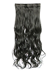 Black Length 70CM Synthetic Curly Hair Non-Trace Five Clip Hair Hair Slice Of A Chip(Color 1)