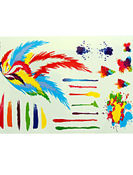 Tattoo Stickers Airbrush Tattoo Stencils Women / Adult Multicolored Paper 1 23*14*0.3