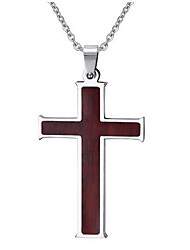 Men's Women's Pendant Necklaces Pendants Stainless Steel Cross Cross Brown Jewelry Daily Casual 1pc