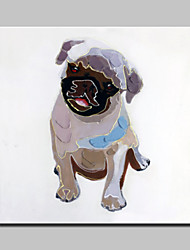 Lager Hand Painted Modern Dog Animal Oil Painting On Canvas Wall Art Picture For Hotel Decor Whit Frame Ready To Hang