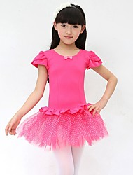 Ballet Dresses Children's Performance Cotton Bow(s) 1 Piece Fuchsia / Light Blue / Light Purple / Pink