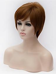 o novo 5 polegadas cabelo castanho claro peruca de idade