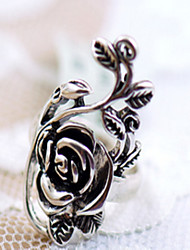 Antique Silver Vintage Style Bronze Rose Open Band Midi Ring for Men/Women Jewelry