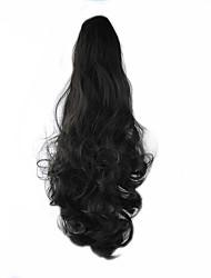 longueur perruque noire 58cm synthétique bouclés haute température fil défilement prêle couleur 4