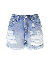 Burvogue Women's igh Waist Summer Casual Jeans Ripped Denim Shorts