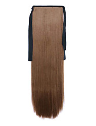 Brown Length 60CM Synthetic Bind Type Long Straight Hair Wig Horsetail(Color 10