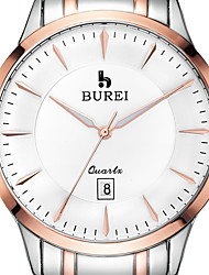 BUREI ® Men's Brand Stainless Steel Business Watch with Calendar Function Fashion Quartz Sapphire Wrist Watch & Jewelry Cool Watch Unique Watch