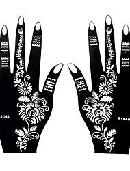 2pcs Henna Airbrush Stencil Tattoo Temporary Tattoo Body Hands Art Painting Sticker S104