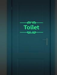 Hot  Diy Glowing Night Lighting Luminous Fluorescent Bathroom Door Wall Sticker Toilet Wall Sticker Bath Decoration