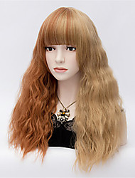 Europe And The United States With  Long Curly Brown Mixed 22 inch Hair Nylon Hair Wigs