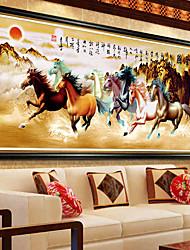 diamantes 5d DIY bordados oito cavalos ganhar sucesso instantâneo do ponto da cruz de diamantes mosaico 100 * 45 centímetros
