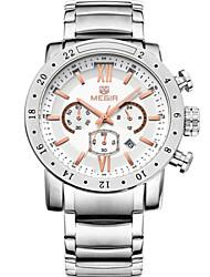 MEGIR® Men's Steel Band 30M Water Resistant Dress Sports Watch Jewelry Fashion Wrist Watch Cool Watch