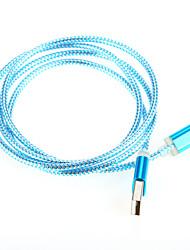 Schnellladung Aluminium USB 2.0-Kabelschnur für Samsung-Android-Smartphone allgemeine Kabel (1,0 m)