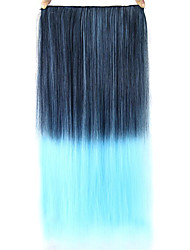 Straight Blue Colorful Human Hair Lace Wigs 1T4516