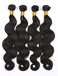Brazilian Virgin Hair Body Wave 4 Bundles Natural color #1B Unprocessed Human Hair Weaves Brazilian Body Wave