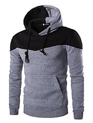 Men's Long Sleeve Hoodie & Sweatshirt,Cotton Patchwork