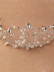 Femme Cristal Imitation de perle Casque-Mariage Occasion spéciale Extérieur Tiare 1 Pièce