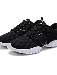 Men's Shoes Tulle Athletic Shoes Running Lace-up Black / Blue