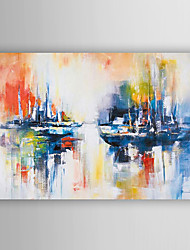 Hand Painted Oil Painting Landscape Abstract Ship at Sea with Stretched Frame 7 Wall Arts®