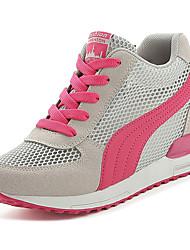 Scarpe Donna-Sneakers alla moda-Formale / Casual-Comoda-Piatto-Tulle-Nero / Bianco / Fucsia