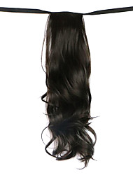 Wig Black 50CM High-Temperature Wire Strap Style Long Hair Ponytail Colour 4A