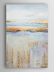 Hand Painted Oil Painting Landscape Abstract Earth And River Meets Sky with Stretched Frame 7 Wall Arts®
