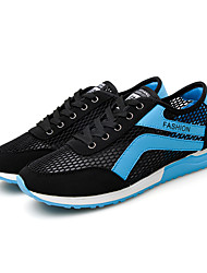 Men's Shoes Casual Tulle Fashion Sneakers Black / Blue / White / Gray