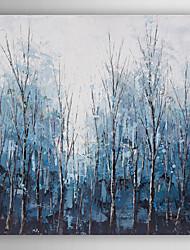 ручная роспись маслом пейзаж синий древесины с растянутыми кадр 7 стены arts®