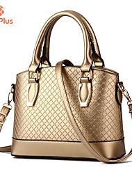 M.Plus® Women's Fashion Plaid PU Leather Messenger Shoulder Bag/Handbag Tote