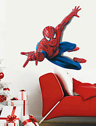 Superhero Spider-Man Wall Stickers Cartoon Children's Room Bedroom Wall Art PVC Wall Decals