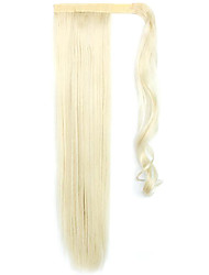 Golden Length 60CM The New Velcro Mixed Color Long Straight Air Wig Horsetail(Color 60/613)