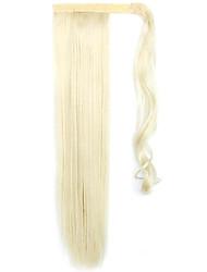dourado comprimento 60 centímetros a nova velcro mista cor peruca longa ar cavalinha reta (cor 60/613)