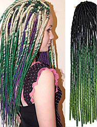 20 polegadas crochet cabelo macio dreadlock havana mambo torção trança cor ombre verde preto com agulha de crochê